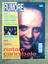 RUMORE n.10 1992 - Metallica, REM, Alice Donut, Africa Unite, God machine, Cell