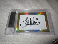 Terrell Davis Rod Smith 2014 Leaf Masterpiece Cut Signature signed auto card 1/1