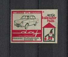 Daf Variomatic Vintage Dutch Matchbox Label No.41