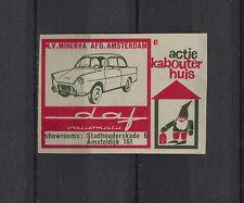 Daf Variomatic Vintage Dutch Matchbox Label No.41