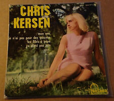 "CHRIS KERSEN - MON AMI - French FONTANA 7"" EP P/S YeYe/Pop A Paris Rarity"