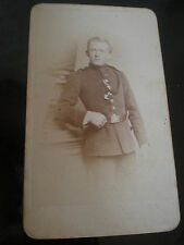 Cdv photograph soldier by Krause & Graf at Dresden Germany c1880s