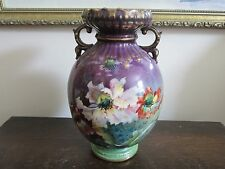 Antique  Royal Bonn Germany Handpainted Porcelain Vase Poppies 7 1/2""