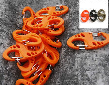 10pcs/set Plastic Carabiner Clip Hook Keychain Hiking Camping Buckle 8 Shape