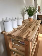 "Custom Made To Order Maple Butcher Block Counter Top, 24"" x 60"""