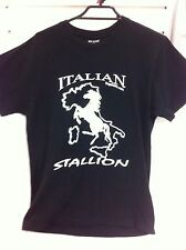 Italian Stallion Horse Shirt T-Shirt Novelty Medium Stallions Clothing Funny New