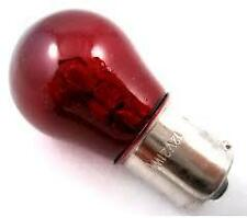382R 12 VOLT 21 WATT STOP OR TAIL 382 BULB SINGLE CONTACT RED NEW PACK OF 10