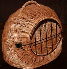 MEDIUM - Wicker Pet Carrier Igloo /Dog Cat Rabbit, Natural Crate