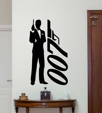 James Bond Logo Wall Decal Agent 007 Movies Vinyl Sticker Art Decor Mural 78zzz