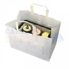 250 X CUPCAKE CARRIER BAG HOLDS A 6 BOX FREE NEXT DAY DELIVERY*