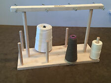 Fiber Artist Supply Co., 8 Spool Maple Weavers' Yarn Cone Holder with Hardware