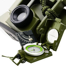 Green Professional Military Army Metal Sighting Compass w/Inclinometer Outdoor