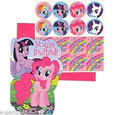 (8) MY LITTLE PONY FRIENDSHIP IS MAGIC INVITATIONS~ Birthday Party Supplies