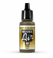 Vallejo Model Air Brown Violet RLM81 71.264, 17ml Acrylic Airbrush Ready Paint