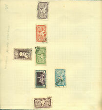 Cambodia x 1 + Indo China x 6 diff used mounted on graph sheet