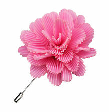 Mens Wafer Fuschia Pink Rose -Blazer Lapel Pin- Flower Wedding Boutonniere Gift