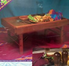Workbench Project Plans SERVING TRAY Plus SALT PEPPER SHAKERS  Full Size Pattern