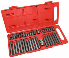 "40PC Torx Star Spline Chrome Vanadium Hex Socket Power Bit Set 3/8"" & 1/2"" Drive"
