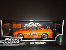 Jada Toyota Supra 1995 Orange Brian's Car Fast and Furious 1/18