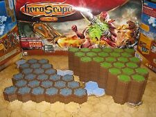 Heroscape Terrain lot - 288 hexes - 12 24-hex grass & rock