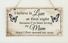 Beautiful Shabby Mum Mummy Love At First Sight Butterfly Sign Plaque Chic Gift