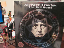 ALEISTER CROWLEY - THE EVIL BEAST LP  Black Magic Satanism BOO OUT OF PRINT!
