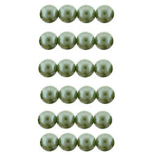 Czech 8mm Glass Beads Pearls Sage Green C8080 Round Beads Sage Green Pearls