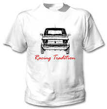 POLISH MALUCH RED FIAT 126P INSPIRED RACING TRADITION P - WHITE COTTON TSHIRT