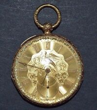 John E Hyde & Sons Paris 18K Yellow Gold Open Face Pocket Watch  WA265