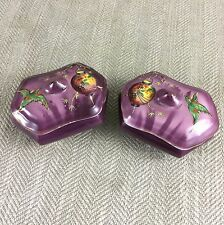 2 Antique Trinket Box Boxes Art Deco Chinese Japanese Dressing Table Pot Vintage