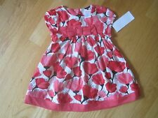 Toddler girl Gymboree CORAL HOT PINK FLOWERS DRESS NWT 6m 9m 12m