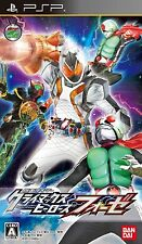 Used PSP Kamen Rider Climax Heroes Fourze  Japan Import ((Free shipping))