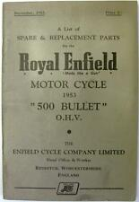 ROYAL ENFIELD 500 Bullet - Motorcycle Owners Parts List - 1953 - #304/2M-1253