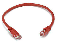 1ft Cat6 UTP Network Ethernet Internet Cable Wire Red 550MHz 24AWG LAN Cat 6