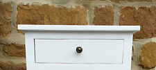 W45 H17 D17 BESPOKE WALL MOUNTED CONSOLE TABLE SHELF DRAWER WHITE