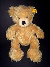 Steiff Finn Cosy Teddy Bear 111471 tan furry Baby Soft plush toy knopf Im Ohr