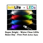 3mm 5mm LEDs LIGHT EMITTING DIODE - WATER CLEAR - SUPER BRIGHT 5/10/20/30/50