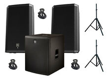 EV Electro-Voice 2x ZLX-15P Active Speakers 1x ELX-118P Powered Sub BUNDLE