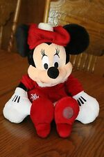 Disney Store Exclusive COZY CABLES MINNIE Mouse Holiday Christmas Theme Plush
