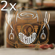 2x Stück Aircooled Bug Pinstriping Sticker Aufkleber Cox Käfer kupfer