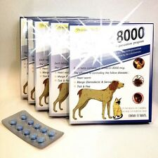 Pet tablet pill 8000 Remove Prevent Heart Worms, Ticks and Fleas for Dogs & Cats