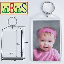 10x Blank Acrylic Keyrings 90x59mm Frame & 76x51mm Photo Size (key ring) 99808