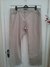 M & S Blue Harbour Luxury Mens Stone Beige Chino Trousers Size 42 Leg 31 New