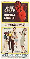 "Poster Houseboat 1958 3 Sheet 41""x78"" VF 7.0 Cary Grant Sophia Loren"