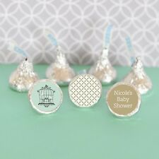 108 Personalized Birdcage Love Birds Hershey's Kisses Labels Wedding Favors