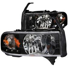 ANZO 111205 Black Housing Headlights for Dodge Ram 1500 / 2500 / 3500 (Set of 2)