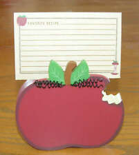 SCOTT'S LOVE YOU TO THE CORE RECIPE CARDS & HOLDER APPLE TEACHER'S PERFECT GIFT
