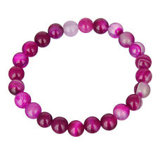 8mm 67 Colors Women Natural Stone Jade Round Beads Stretch Bracelet For Gift