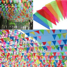 8M LONG GIANT FLAG BUNTING GARLAND PENNANT GARDEN PARTY FETE PUB DECORATION XEAC