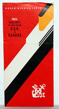 North German Lloyd 1964-voile to and from usa & Canada